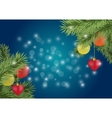 Christmas background with holidays elements vector image
