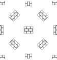 concrete block wall pattern seamless black vector image