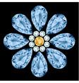 Flower gemstone composition vector image