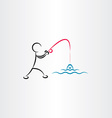 man fishing icon vector image
