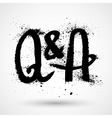 Questions and answers symbol - grunge letters vector image