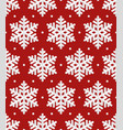 snowflakes christmas seamless pattern vector image