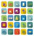 Toy color icons with long shadow vector image