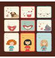 Gift tags with love on brown background vector image vector image