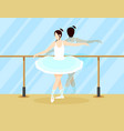 colorful ballet dancer concept vector image