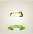 realistic hacksaw element of vector image
