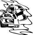 street racing cars vector image vector image