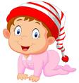 Baby girl cartoon vector image vector image