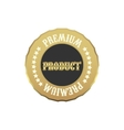 Premium product label simple style vector image