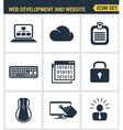 Icons set premium quality of web development and vector image