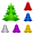 abstract paper christmas tree vector image
