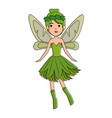 beautiful fairy flying character vector image