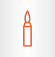 candle icon design element vector image