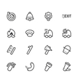 fireman element icon set on white backgroun vector image