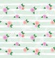 floral seamless pattern with eiffel tower stamps vector image