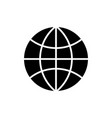 globe icon black sign on vector image