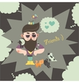 Hipster with his cats vector image