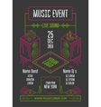 Music event poster vector image
