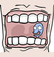 puppet in mouth vector image