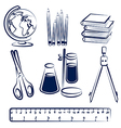 school items2 vector image