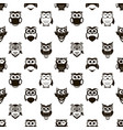 seamless pattern with cartoon black owls and vector image