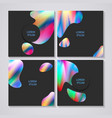 templates with abstract colorful design vector image