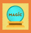 flat shading style icon magic ball vector image