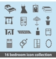 bedroom icons vector image