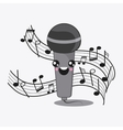 Microphone icon Kawaii and technology design vector image