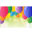 A set of colorful balloons vector image