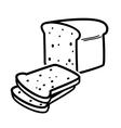 bread loaf vector image