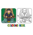 funny musician or xylophone player coloring book vector image