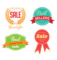 holiday sale icon collection vector image