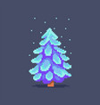 pixel art decorated christmas tree vector image