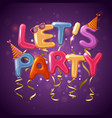 party balloon letters background vector image