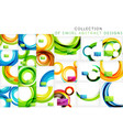set of bright color wave templates vector image vector image