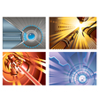 Abstract hi-tech backgrounds vector image vector image