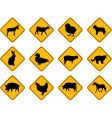 farm animals signs vector image