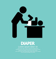 Diaper Changing Graphic Symbol vector image