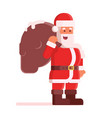happy santa claus with bag vector image