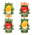 labels of juice from melon and tomato vector image