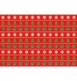 seamless horizontal pattern of christmas symbols vector image
