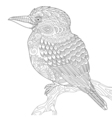 Zentangle stylized kookaburra bird vector image