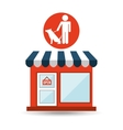 pet shop with man and dog vector image