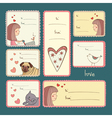 Gift tags with love on turquoise background vector image vector image