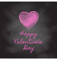valentines day chalkboard vector image