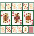diamond playing cards vector image vector image