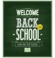 Back to school - Chalkboard vector image vector image