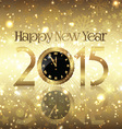 golden happy new year background vector image