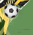 soccer grunge background design vector image vector image